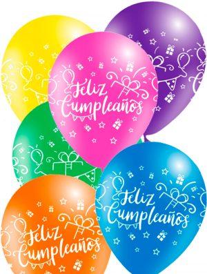 Globo látex Feliz Cumpleaños surtido Festivo Special deco