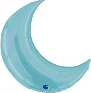 Globo foil luna azul claro