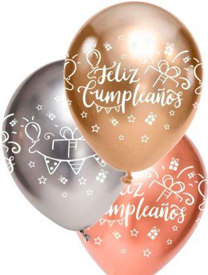 Globo látex Feliz Cumpleaños surtido Brilliant 3