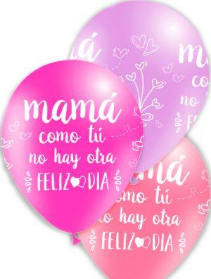 Globo látex Feliz Día Mamá surtido Rosa Special deco