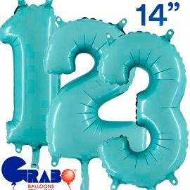 36 cms. Azul pastel
