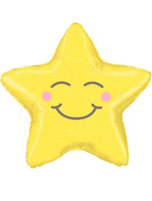 Globo foil Estrella holográfica Chubby