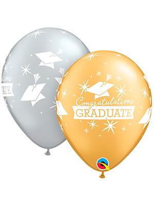 Globo látex Congratulations Graduate Caps