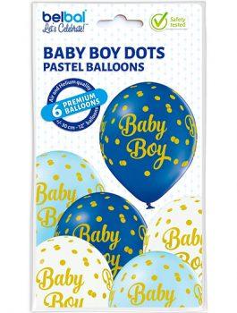 Globo Látex Baby Boy 3 colores