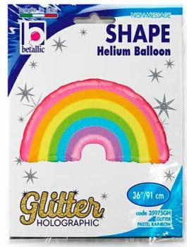 Globo foil arcoiris pastel