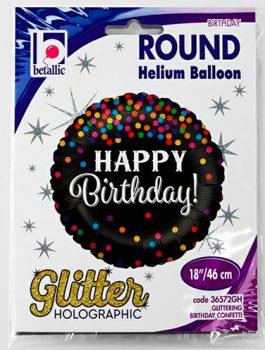 Globo foil Feliz Cumpleaños Glitter