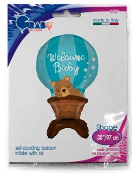 Globo Foil Welcome Baby azul