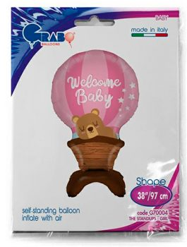 Globo Foil Welcome Baby rosa