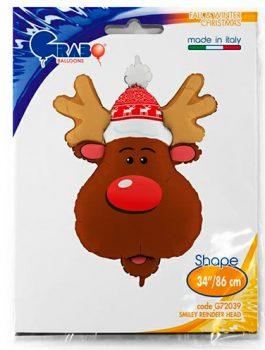 Globo foil Reno de Navidad