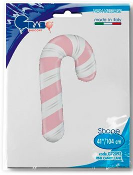 Globo foil baston caramelo rosa 104 cm