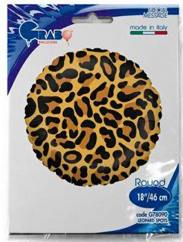 Globo foil leopardo