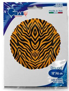 Globo foil tigre